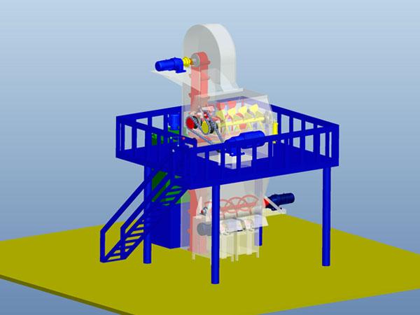 半自动(节能型)ganfen砂浆生产线